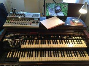 Session organ player studio setup